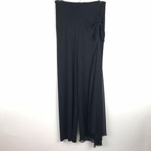 Joseph Ribkoff Pants Black Asymmetrical Wide Leg